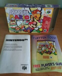 Paper Mario N64 Box and Inserts Only - Authentic, Original - No Game or Manual