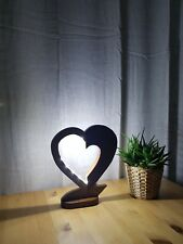 Unique Heart Shaped Hand Made Table Lamp