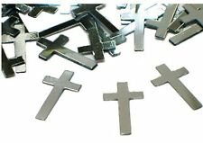 CHRISTENING COMMUNION RELIGIOUS THEME SILVER CROSS PARTY TABLE FOIL CONFETTI