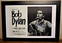 "1963 BOB DYLAN SYRACUSE CONCERT POSTER (CORE) EXTREMELY RARE ORIGINAL 14"" x 20"""