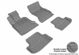 For 2015-2016 BMW 528i 535d 535i 550i Classic Gray All Weather Floor Mat Set