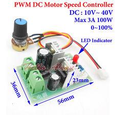 10-40V 12V 18V 24V 36V 3A PWM DC Motor Speed Control Controller Regulator Switch