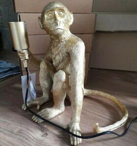 Hill Monkey Gold Table Lamp - BNIB