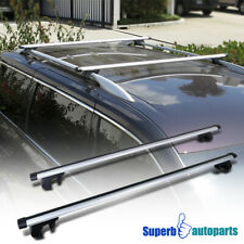 "Adjustable 53"" Car Top Silver Aluminum Cross Bar Roof Cargo Luggage Rack"