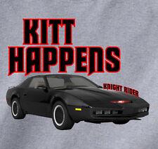Kitt Happens - Knight Rider - T-Shirt fun 80s Tv show David Hasselhoff Trans Am