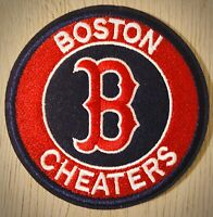 "BOSTON RED SOX CHEATERS Patch 2018 WORLD SERIES CHAMPIONS 3"" Iron On Emb"