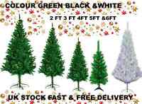 CHRISTMAS X'MAS DECORATION TREE PINE TREE  WHITE BLACK,GREEN 2,3, 4,5,7& 7 Feet