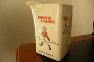 VINTAGE COLLECTABLE JOHNNIE WALKER SCOTCH WHISKY WATER JUG
