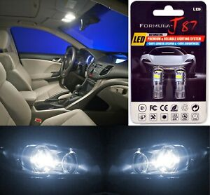LED 3030 Light White 5000K 194 Two Bulbs License Plate Replace Upgrade Philips