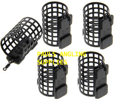 PACK OF 5 NGT Fishing Tackle Round Metal Cage Feeders 25g Swimfeeders / bait