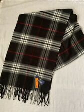 Stafford Scarf Black Grey One Size Acrylic Classic Career Casual New