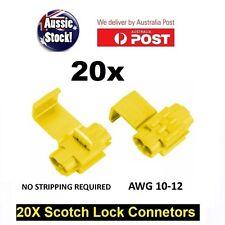 20PCS WIRE CONNECTOR SCOTCH LOCK QUICK SPLICE Yellow WIRE TERMINALS AUTO CAR