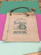 Vintage Water Bag Safari Lion Canvas GM Chevrolet Car Pickup Truck Accessory Old