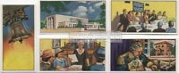 American  Jewish Life Traditions Talmud Synagogue Jerusalem  FIVE Vintage Cards