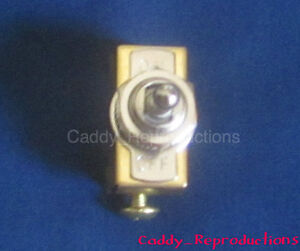 1941 - 1966 Cadillac Toggle Switch Universal with on / off plate 6V or 12V