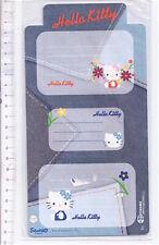 HELLO KITTY 2008 Sanrio Japan 4 sheets sticker tags - 4 fogli etichette adesive
