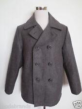 Us pea jacket veste veste d'hiver 48 50 M laine anthracite gris comme neu/z5