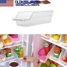 Storage Collecting Box Organizer Basket Kitchen Refrigerator Fruit Rack Shelf US