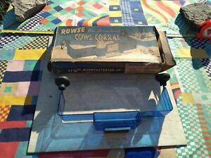 Dark blue NOS MIB vtg Rowse 'Cowl Corral' dash tidy tray. Genuine rare 50s item
