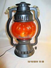 Halloween Pumpkin Flame Lantern Plug in 11 inches tall