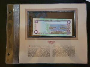 🇯🇲 Most Treasured Banknotes Jamaica 1 Dollar P-64b 1982 - 1988 UNC 062221-21