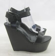 "Blacks 5.5""high wedge heel 2"" platform open toe sexy shoes SIZE   7.5"