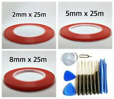 2mm 5mm 8mm Red Film Double Sided Tape Adhesive LCD Cellphone Repair + Tools