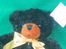 NEW BEN BRIDGE ENGAGEMENT RING HOLDER BLACK TEDDY BENNY BEAR SILK GOLD BOW PLUSH