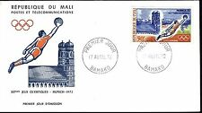 1059+ FDC ENVELOPPE 1er JOUR MALI  FOOT  JEUX OLYMPIQUES 1972