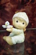 Precious Moments-#730106 Baby Boy First Christmas Ornament 2000-Blue Bird-NIB