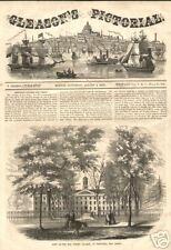 1853 Antique Print Princeton College New Jersey Scarce