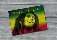 Bob Marley Rasta Personalised Birthday Or Christmas Card - A5 Large Name And Age