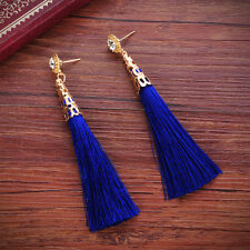 Stylish Bohemian Earrings Women Vintage Long Tassel Fringe Boho Dangle Earrings