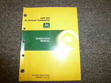 John Deere AMT 626 All Material Transporter Owner Operator Manual OMM96681