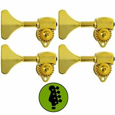 """NEW Hipshot USA HB6 3/8"""" Ultralite® Bass Tuning TREBLE SIDE 4 in Line Y Key GOLD"""