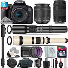 Canon EOS Rebel 800D T7i + 18-55mm IS STM + 75-300mm III + 500-1300mm - 32GB Kit
