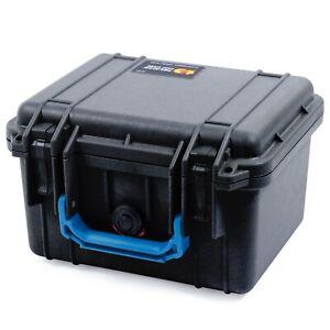 Black & Blue Pelican 1300 case with foam.