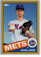 Jacob deGrom 2020 Topps 1985 35th Anniversary 5x7 Gold #85-66 /10 Mets
