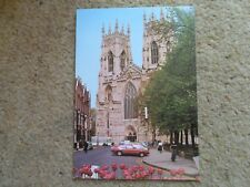 A SALMON CAMERACOLOUR POSTCARD,WEST FRONT,YORK MINSTER.NOT POSTED.