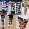 Women Print Leggings Stretchy Casual Skinny Legging Slim Pencil Pants Trousers