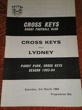 1984 Cross Keys V Lydney programme