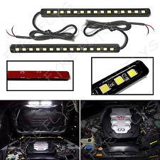 2x Super Bright White 15 LED light bars for Under Hood Engine Bay Lighting #Q4x2