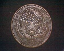 1844 BANK OF MONTREAL (CANADA) HALF PENNY BANK TOKEN KM#TN18 INV#15850