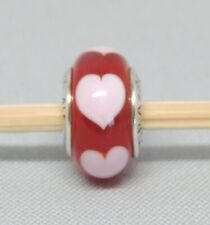 Authentic Pandora Red Hearts Love Glass Charm/Bead Silver 925 ALE 790658