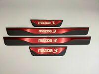 For Mazda 3 Accessories Car Door Sill Cover Scuff Plate Protector Guard2013-2019