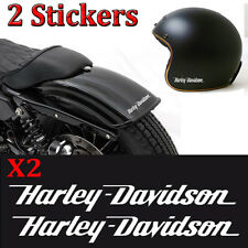 lot 2 stickers autocollant harley davidson skull sportster iron casque