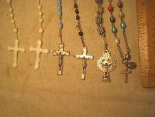 vintage rosary lot rosaries Christian Christ Jesus Crucifix cross x INRI ERIN