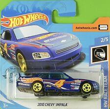 Hot Wheels 1/64  Chevy Impala Nascar  2010 Serie Race Team. 2020