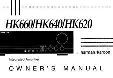 Harman Kardon HK620 HK640 HK660 Receiver Owners Manual