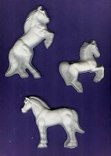 Three design Horses plaster of Paris painting project. Love horses! Set of 6!
